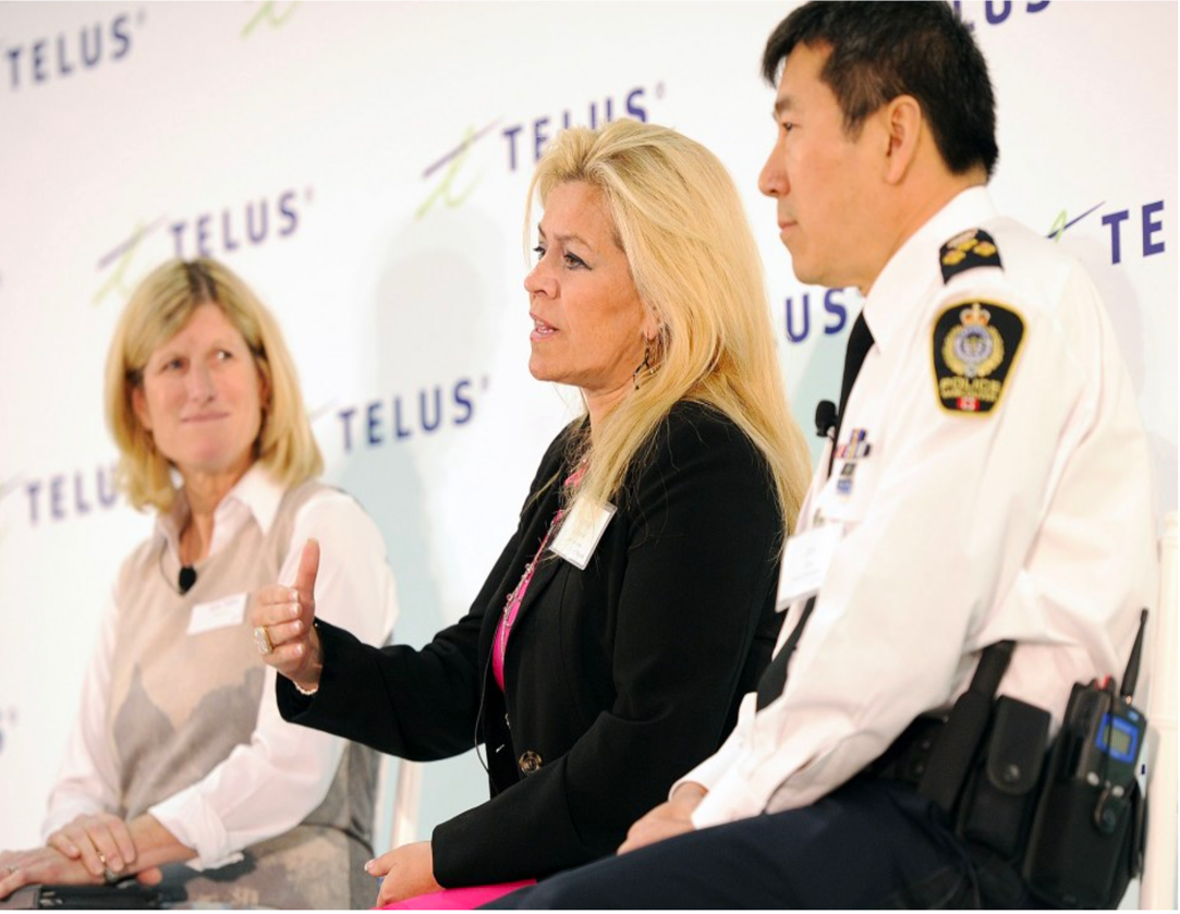 Theresa Campbell with former VPD Chief Jim Chu